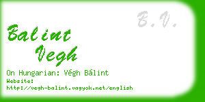 balint vegh business card
